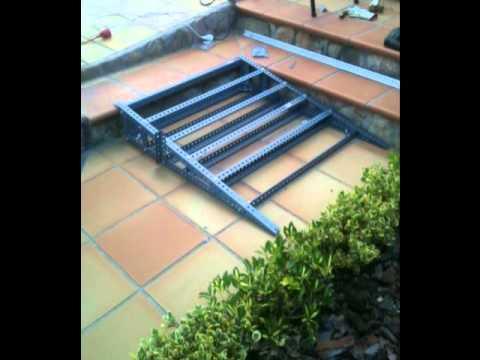 Como fabricar una rampa fija para moto youtube - Fabricar escalera de madera ...