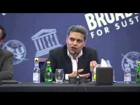 Fareed Zakaria speaking at the Broadband Commission Meeting,