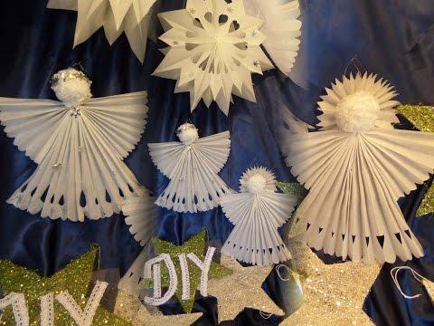 DIY by kekaplauderei: ENGEL aus Butterbrotpapier BASTELN; Kinder BASTELIDEE