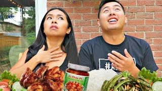 HOME COOKED MUKBANG - WILDLIFE SIGHTING AT THE NEW HOUSE