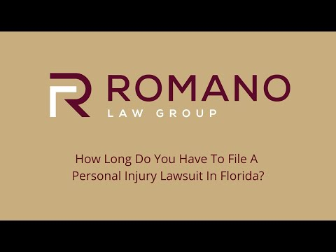 How Long Do You Have To File A Personal Injury Lawsuit In Florida?