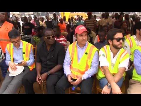 Prez John Dramani Mahama Break Grounds For Kasoa Interchange Project