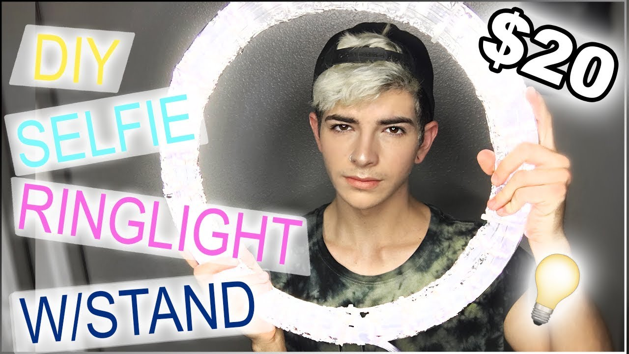 Diy Ring Light Tutorial Under 20 W Stand Side By Side