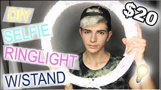DIY Ring Light Tutorial | Under $20 W/STAND [Side By Side Comparison] thumbnail