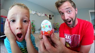 FATHER SON ILLEGAL CANDY! / Kinder Surprise Egg!