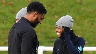 Raheem Sterling and Joe Gomez train together following their clash