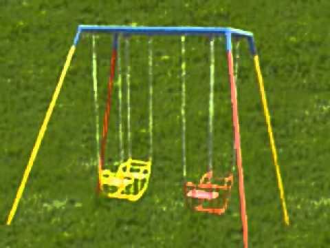 banco de jardim infantil : balan?os e banco de jardim playground infantil - YouTube