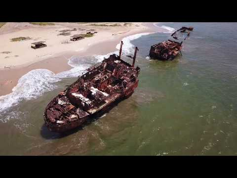 Shipwreck Beach - Praia do Sarico - Luanda Angola - Drone - DJI Mavic Pro - 4K
