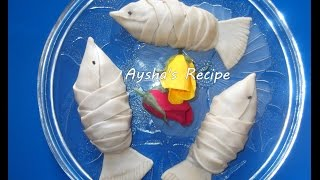 How to make  mach pitha or fish puff