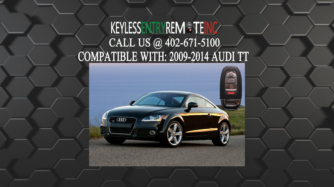 How To Replace Audi Tt Key Fob Battery 2009 2010 2017
