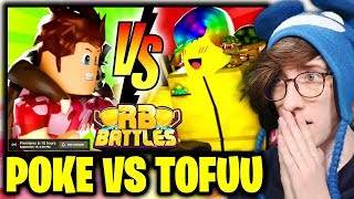 🔴 POKE vs TOFUU!! (LIVE REACTION) | ⚔️ Roblox RB Battles Championship Event | 1 Million Robux Prize