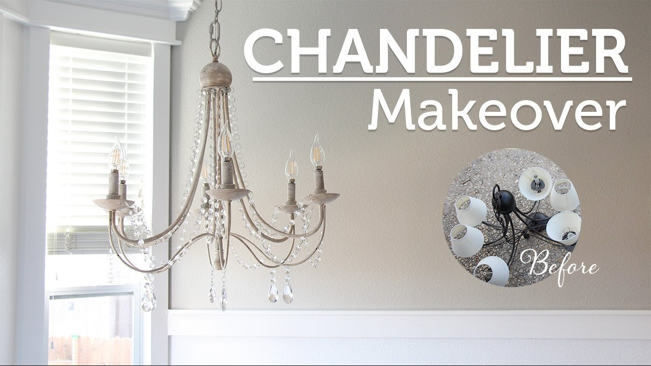 Diy chandelier makeover araa de luces youtube diy chandelier makeover araa de luces aloadofball Image collections