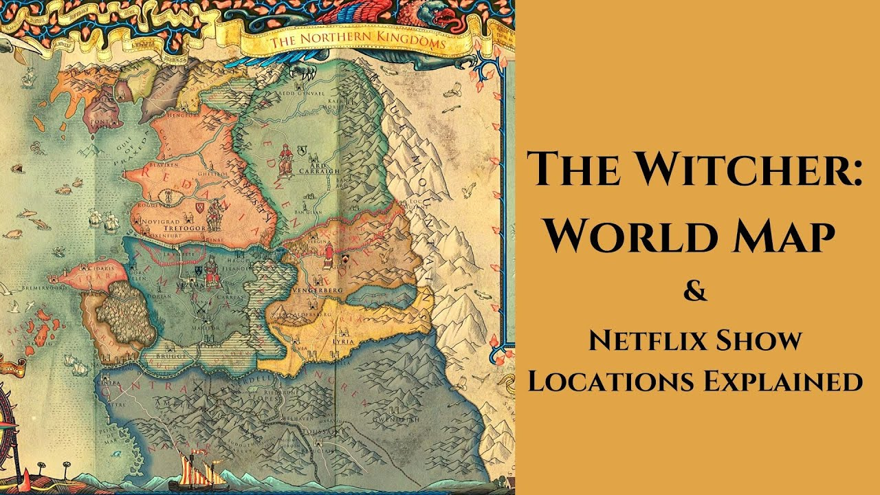 The Witcher - World Map & Netflix Show Locations