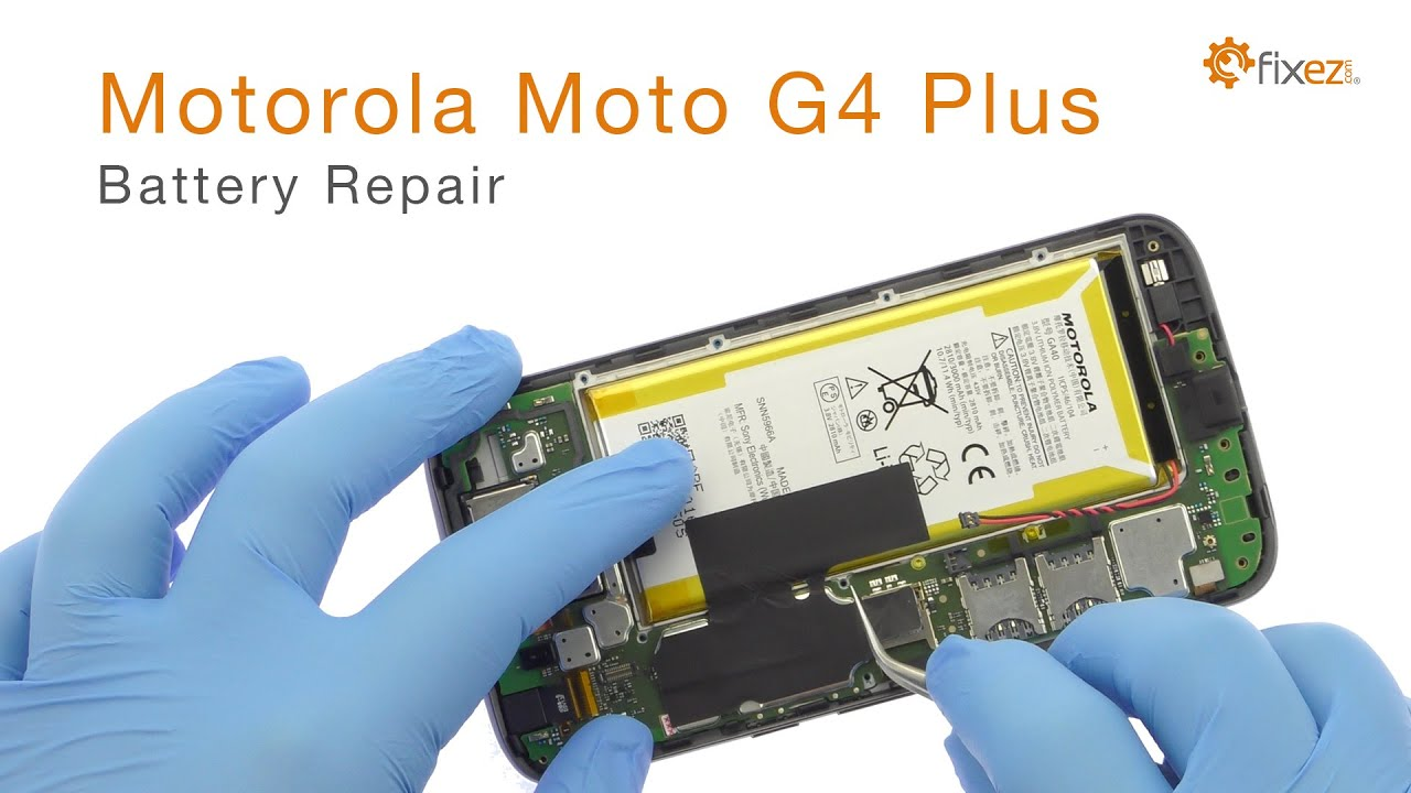 Motorola Moto G4 Plus Battery Repair Guide Fixezcom Youtube 4 Wire Diagram