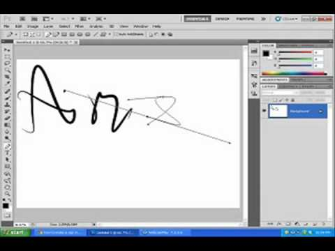 How to make your own signature in photoshop CS3 ,4, 5 - YouTube