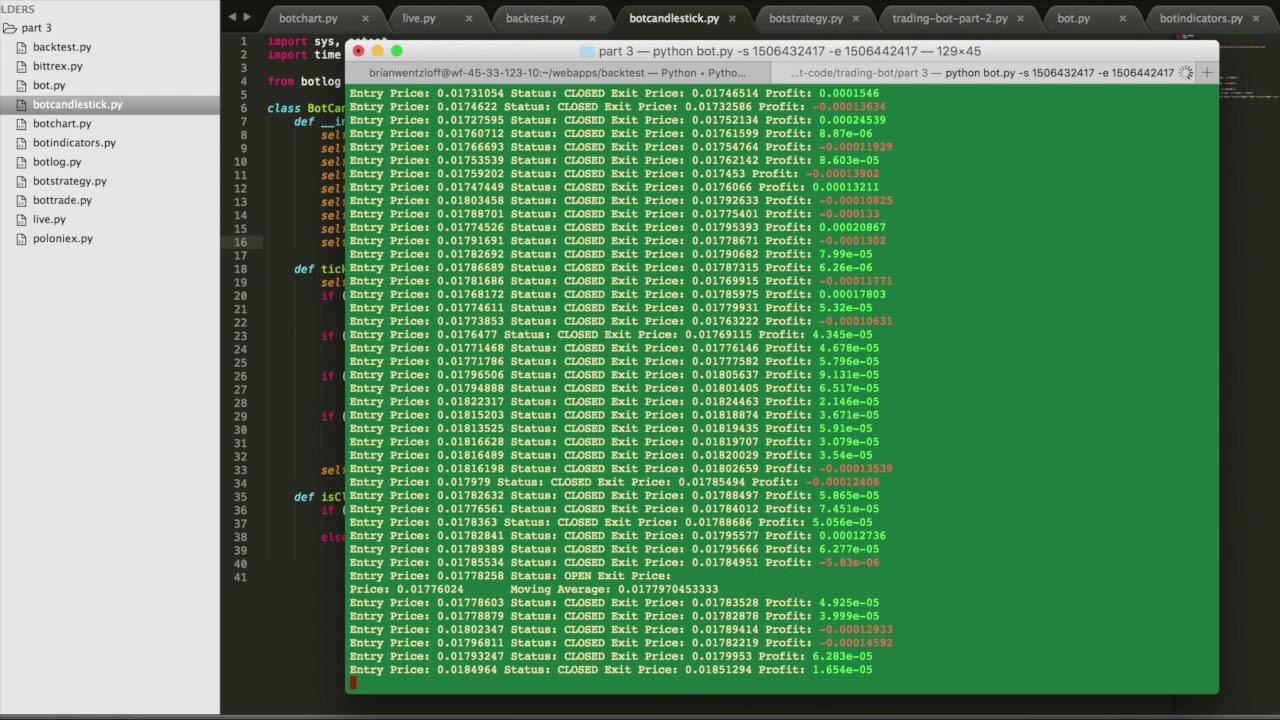 bitcoin code trading bot