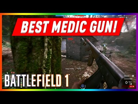 BATTLEFIELD 1 PS4 MULTIPLAYER GAMEPLAY #7 - BEST MEDIC GUN / AUTOLOADING 8 RIFLE / MOST KILLS!