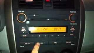 broken stereo, 2009 Toyota Corolla