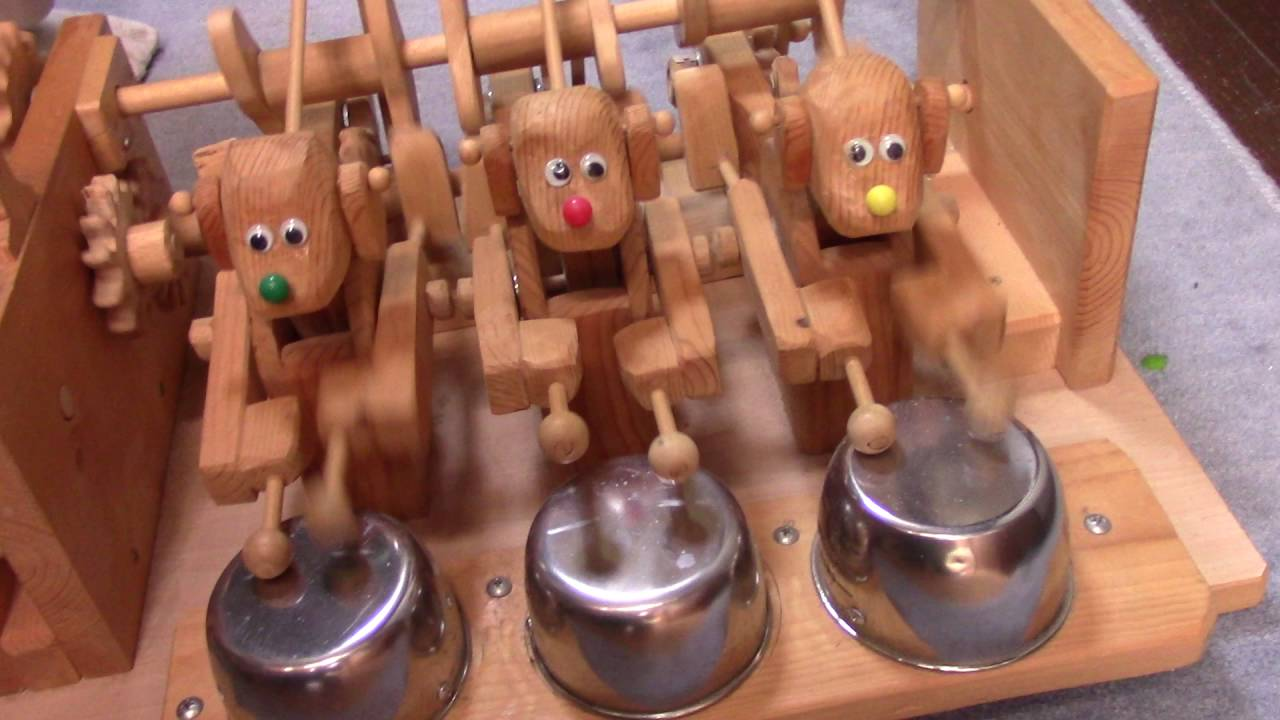 japanese wooden toys - doggy drums
