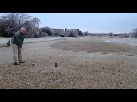 """""""Golf on Ice"""" @ Battle Creek GC, Broken Arrow, OK, Dec 21, 2013"""