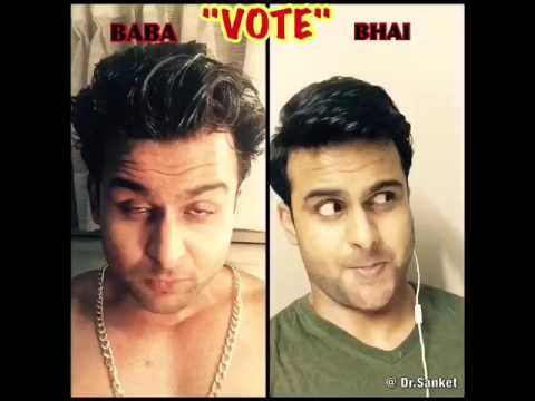 Elections and Voting Are supported by Salman Khan and Sanjay Dutt ..Comedy