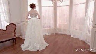 Прямое свадебное платье от VESILNA™ модель 3034