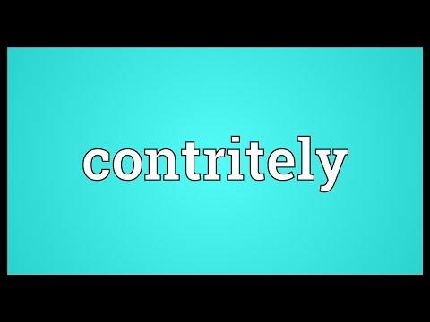 Header of contritely
