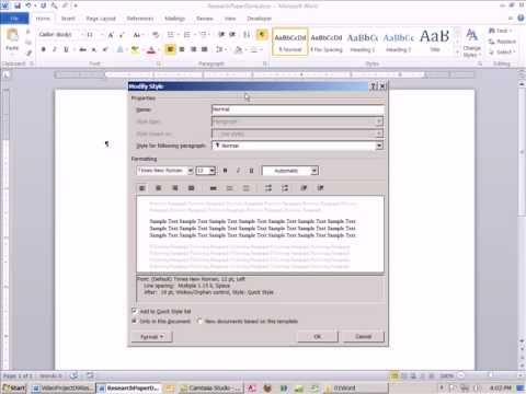 Office 2010 Class #09 Word Research Paper Tricks Footnotes, Citations, Bibliographies, Styles, Find