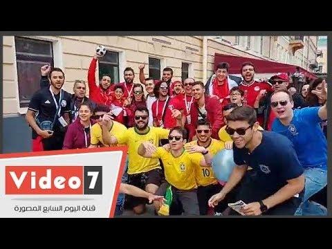 اليوم السابع :البرازيليون يشاركون جمهور الفراعنة الهتاف: