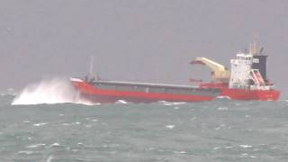 General Cargo Ship CHRISTINA in rough seas