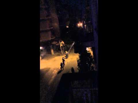 Police against demonstrators Athens Greece after Referendum