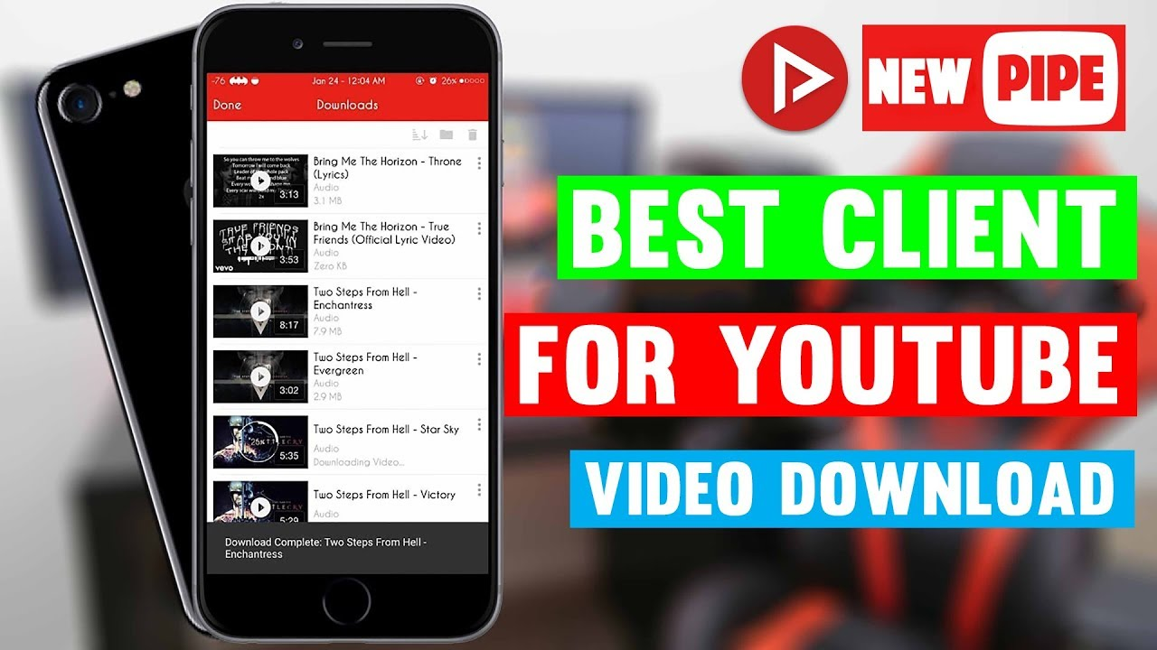 Newpipe YouTube Video Downloader for Android Mobile Apps (2018) | App Care  bd