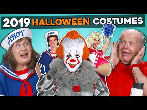 Trying 5 CRAZY Halloween Costumes Of 2019 | Elders React And Try Funny And Scary Costumes