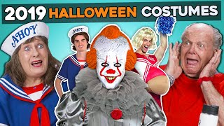 Elders React To And Try 5 CRAZIEST Costumes Of 2019 (Pennywise, Stranger Things, VSCO Girl)