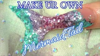 HOW TO MAKE A GLITTER MERMAID TAIL | ABSOLUTE NAILS