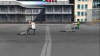 Jackass The Game - PS2 - 04 - Eps 1 - Roof Top Cart Stop