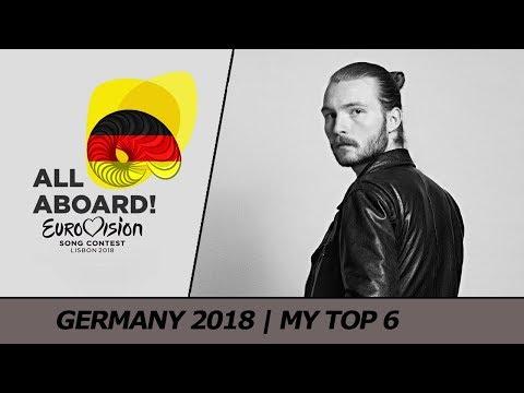 Eurovision 2018 GERMANY (Unser Lied für Lissabon) | My Top 6