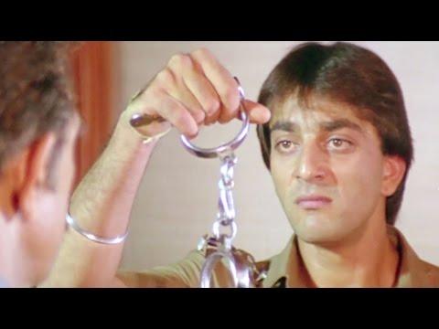 Amrish Puri gets arrested by Sanjay Dutt, Ilaaka - Scene 20/20