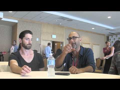 Seth Gabel, Iddo Goldberg, Elise Eberle and EP Adam Simon, Salem ComicCon 2014 Press Room