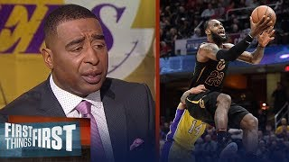 Nick and Cris react to LeBron's triple-double vs Lonzo and the Lakers | FIRST THINGS FIRST