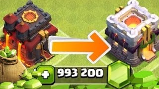 "Clash of Clans - GEMMING FOR TOWN HALL 11! ""NEW!"" Gem To Max Town Special! (CoC TH11 Gemming!)"