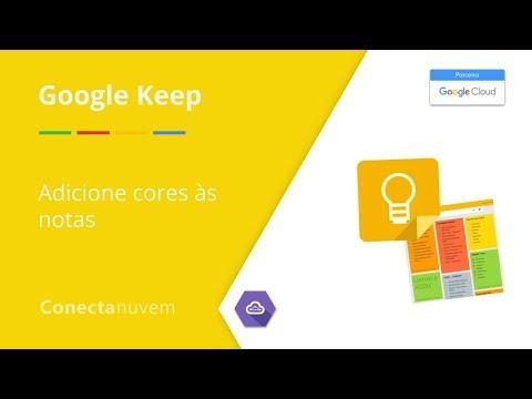 Como adicionar cor às notas Google Keep