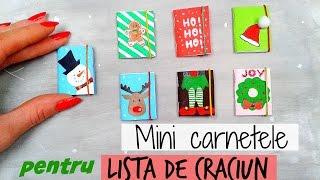 DIY Mini Carnetele de Craciun - Lista pentru Mos Craciun | Idei de Cadouri