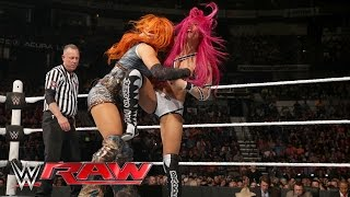 Becky Lynch vs. Sasha Banks - Divas Championship No. 1 Contender