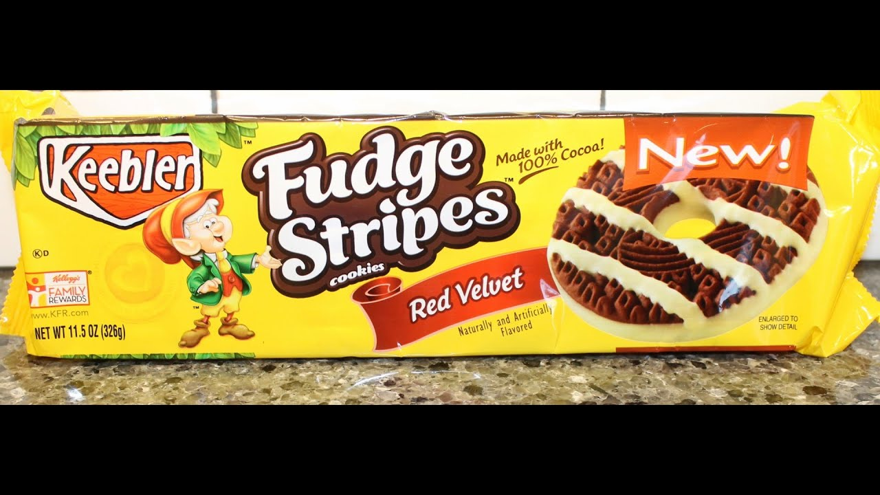 Fudge Stripes Cookies: Red Velvet Review - YouTube