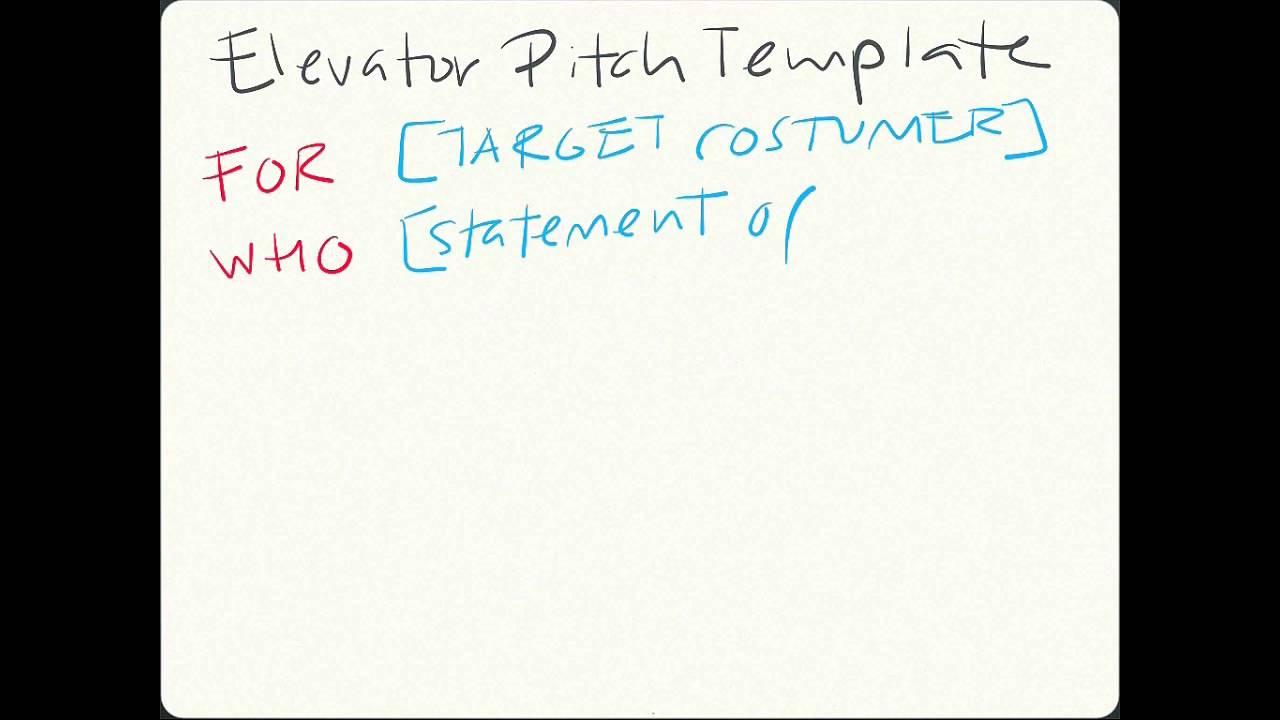 elevator pitch template elevator pitch template