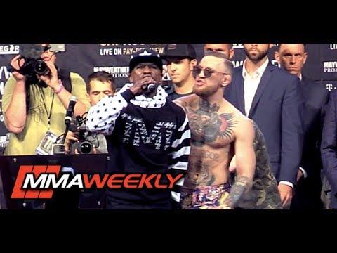 Conor McGregor Shoulder Shrugs Floyd Mayweather