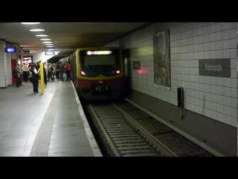 S-Bahn Berlin Bahnhof Friedrichstraße unterirdisch [HD]