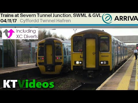Trains at Severn Tunnel Junction, SWML + GNL - 4/11/17