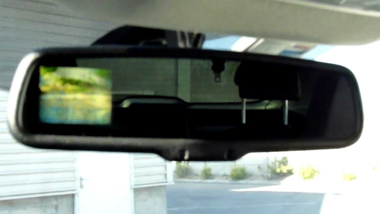 rear mirror with camera display nissan qashqai youtube. Black Bedroom Furniture Sets. Home Design Ideas